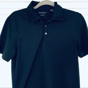 Axist Blue Ribbed Slim Fit Polo Short Sleeve Sz S